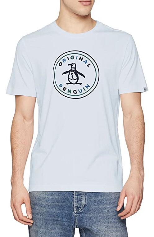 Original Penguin Men's Stamp Logo T-Shirt (Blue, Medium) - £6.35 (+£4.49 Non-Prime) @ Amazon