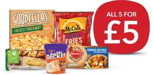 5 Products for £5 - Freezer Fillers (Pizza/ Baguettes/ French Fries/ Ice-Cream/ Chicken Popstars) £5 @ Co-Op