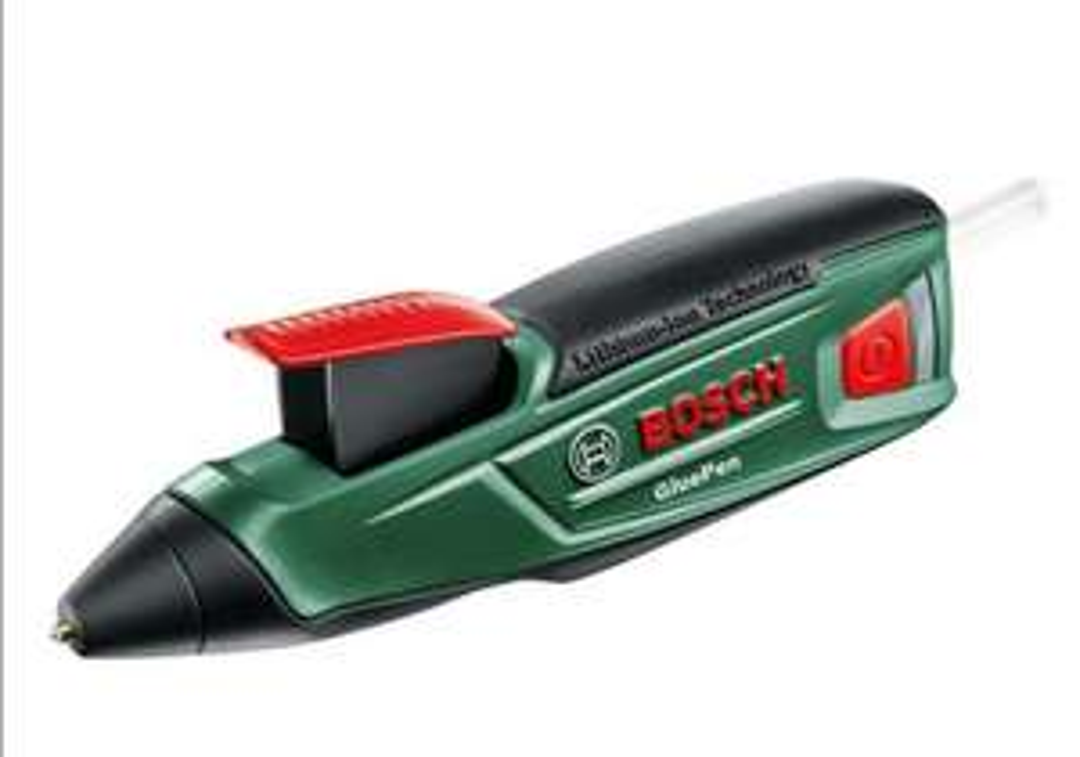 Bosch Cordless Hot Glue Gun GluePen (Micro USB Charger, 4 x Ultrapower Glue Sticks, 3.6 V Cardboard Box) £23.89 Amazon