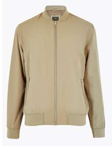 Bomber Jacket with Stormwear (Light Taupe or Brick) for £9 (free click and collect) @ M&S