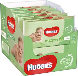 Huggies Natural Care Baby Wipes with Aloe Vera - 10 Packs (560 Wipes) - £7.50 (Prime) / £11.99 (Non Prime) delivered @ Amazon