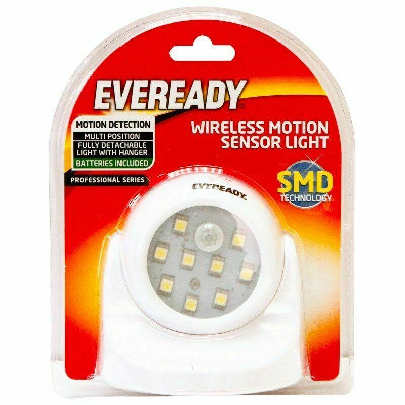 Eveready Wirelss motion sensor light & 3w head lamp with strap in-store £1 @ B&M (Llanelli)