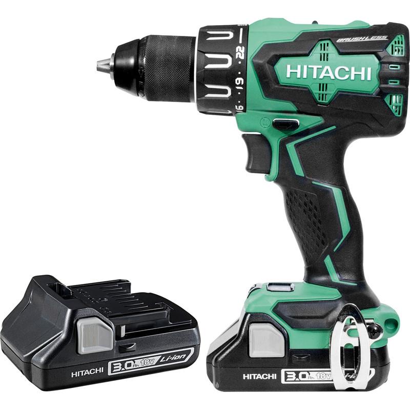 Hitachi DV18DBFL2 18V Cordless Brushless Combi Drill 2 x 3.0Ah £119.98 at Toolstation - click & collect