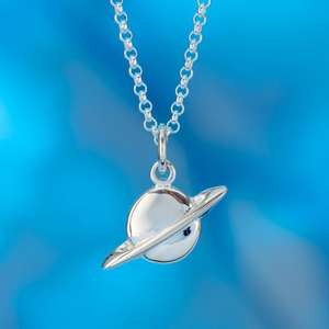 Sterling Silver Planet Necklace £8 with code (was £30 ) + £1.95 Delivery From Lily Charmed