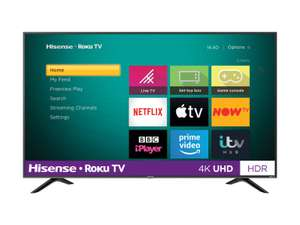 """Hisense Roku TV R50B7120UK 4K Smart LED TV with HDR - 43"""" £279 / 50"""" £329 / 55"""" £379 / 65"""" £529 + free Click and Collect @ Argos"""