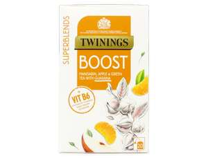 Twinings SuperBlends Boost, x Flavour Herbal Tea Bags F15991 £1.35 (Prime) / £5.84 (non Prime) / £1.07 with 1st s&s @ amazon