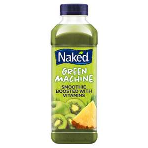 Naked smoothies all flavours 750ml £1.89 at Tesco