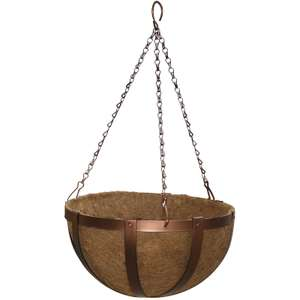 30cm Copper Antique Hanging Basket - £3.00 with free click and collect @ Homebase