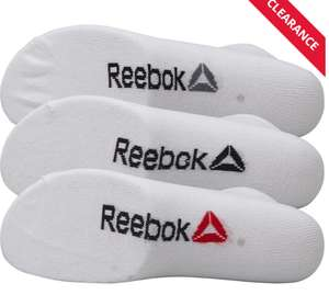 Reebok trainer socks 3 pack (men and women) - £1.99 + £4.99 Delivery @ M&M Direct