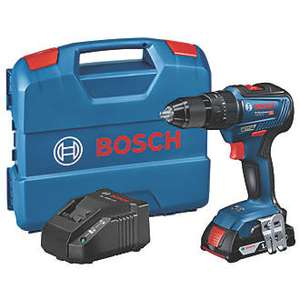 Bosch Blue GSB 18V-55 Brushless 18v combi drill with 1 battery and free screwdriver bit set - £99.99 @ Screwfix