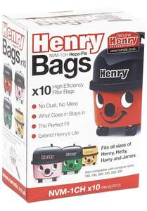 Henry official hoover bags - 10 pack - Amazon - £5 for 5 in supermarkets - £8.61 (+£4.49 Non Prime)