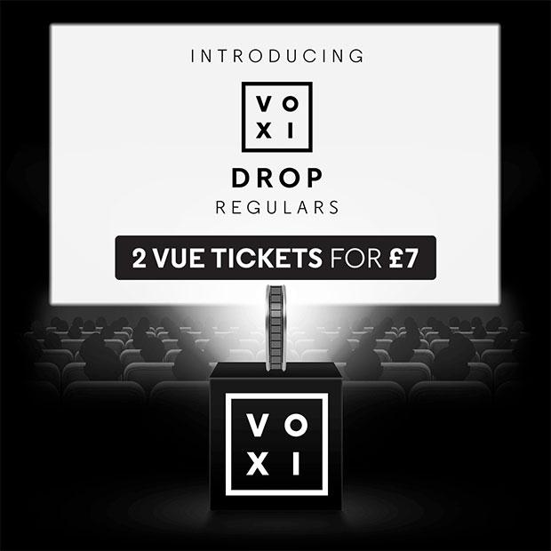 Two Vue cinema tickets £7 - VOXI Drop Regulars