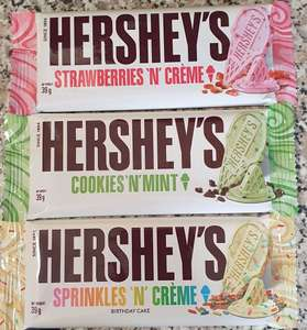 Hershey's bars 39g - 49p at St.helens Lidl