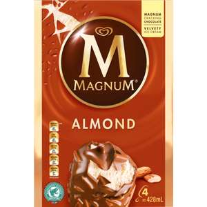 Magnum Almond 4 Pack 4x100ml £1 Lidl NI