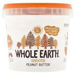 Whole Earth Smooth Peanut Butter 1KG £5 @ Waitrose & Partners