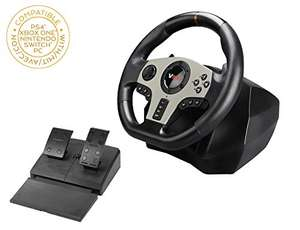Subsonic - V900 Steering Wheel - 900 degree racing wheel with pedals - £103.85 on Amazon.co.uk