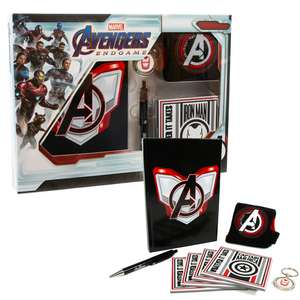 Official Marvel Avengers gift Set - 4 Coasters, A5 Notebook, Pen, Key Ring & Knitted Socks - £6.99 Delivered @ Geekstore