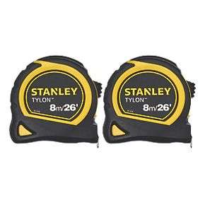 Stanley Stht0-74816 8m Tape Measures 2 Pack £9.99 free click and collect at Screwfix