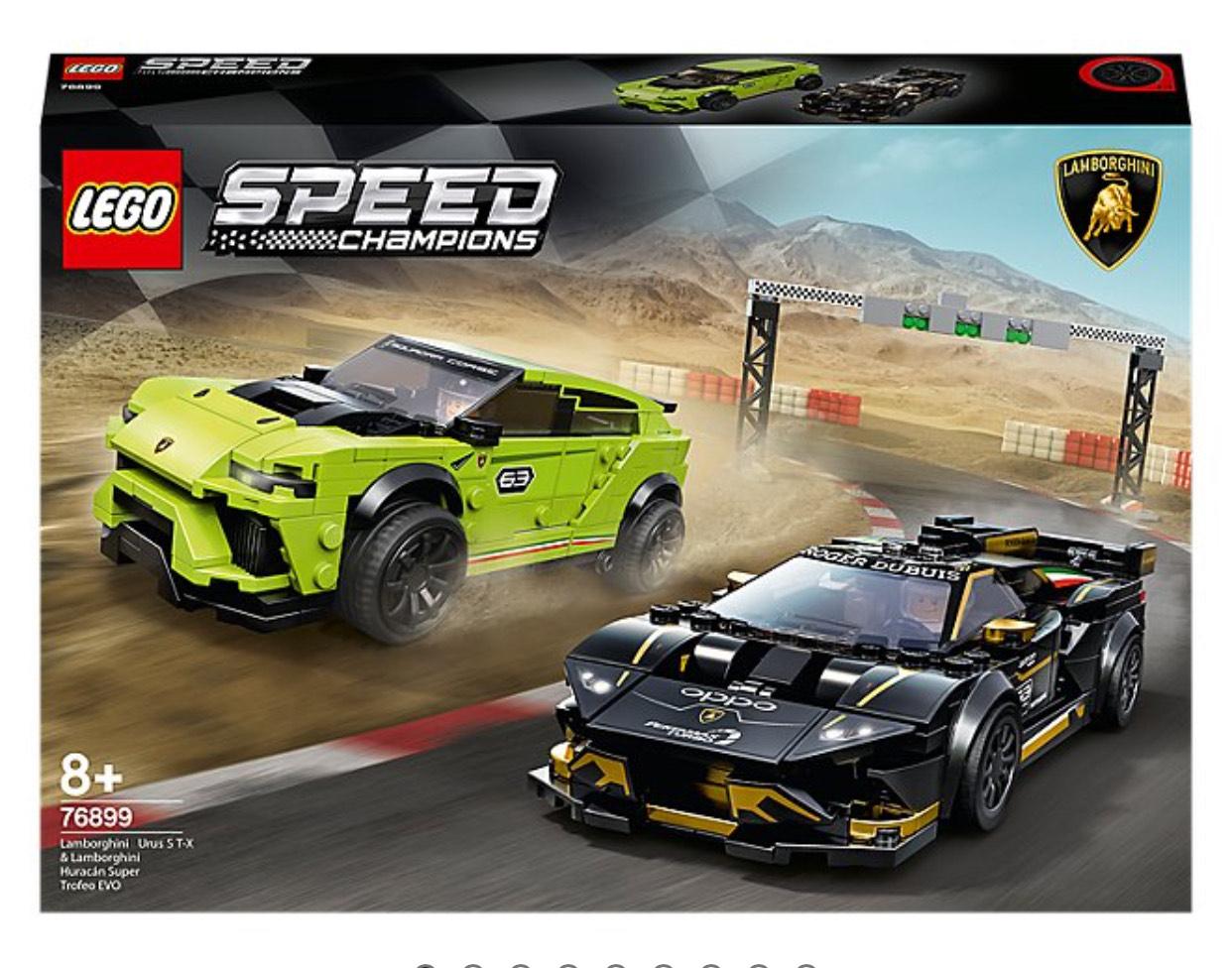 LEGO 76899 Speed Champions Lamborghini Huracán Super Trofeo EVO and Lamborghini Urus ST-X £39.97 at Asda George