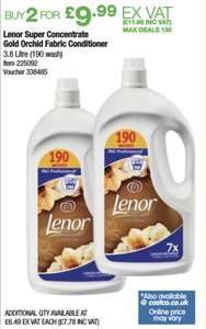 Lenor super concentrate Gold Orchid fabric conditioner 2 x 3.8L (380 washes) £11.96 @ Costco warehouse