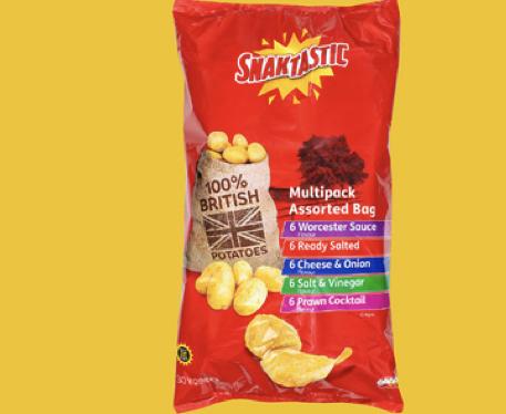 Snaktastic 30 x 25g crisps - £1.89 @ LIDL