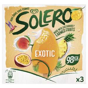 Solero 3 Exotic Ice Cream Lollies - 2 for £3.00 @ Asda