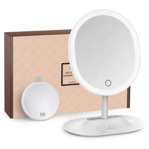Anjou USB Rechargeable LED Vanity Mirror £8.99 Prime / £13.48 Non Prime Using Code Sold by Sunvalleytek-UK and Fulfilled by Amazon