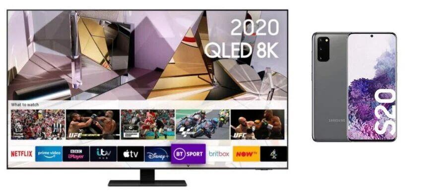 Samsung QE55Q700T 55 inch QLED 8K HDR 1000 Smart TV + Samsung S20 Smartphone - £1999 / £1799 via BNPL 9 Month Credit Agreement @ Very
