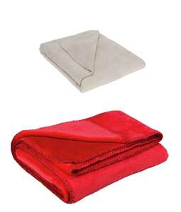 Argos Home Supersoft Fleece Throw - Latte, or Red Colour - £3.99 with free click and collect @ Argos