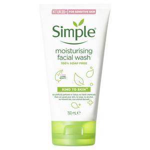 Simple moisturising or refreshing face wash 150ml half price @ Sainsburys £1.50