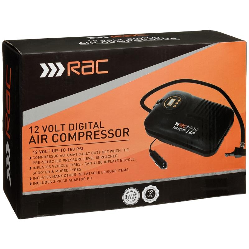 RAC Digital Air Compressor £12.99 @ B&M (Corby)