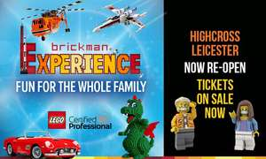 LEGO® Brick Exhibition at Highcross Shopping Centre, Leicester from £4.80 children/ £6.40 adult for new users using code @ Groupon