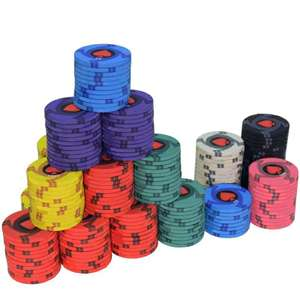 Ceramic Poker Chips £3.87 /10 or Even Cheaper With Bulk + Account Vouchers £3.97 @ AliExpress twinklestar Store
