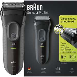 BRAUN Series 3 ProSkin 3000s Wet & Dry Foil Shaver - Black - £19.97 delivered @ Currys PC World