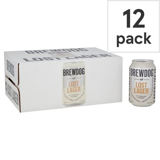 Brewdog Lost Lager 12 x 330ml £9 at Tesco