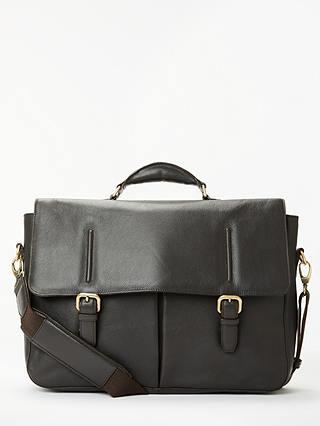 John Lewis & Partners Salzburg Leather Briefcase, Brown - £74.50 @ John Lewis & Partners