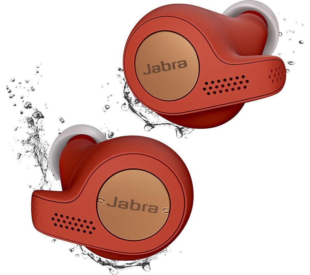 JABRA Elite Active 65t Wireless Bluetooth Headphones - Red Copper £89 @ Currys PC World