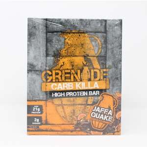 12 x 60g Grenade Carb Killa Jaffa Quake - £12.89 @ Costco