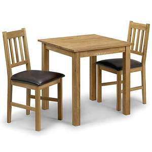 Solid Oak Square Dining Table (Chairs not included) £83.20 Delivered at Dunelm