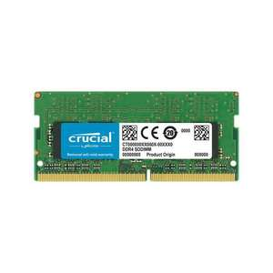 Crucial 4GB DDR4 2400MHz (PC4-19200) CL17 Unbuffered SODIMM 240pin 1.2V Single Ranked Laptop Memory - £13.49 Delivered With Code @ 7Dayshop