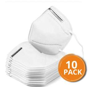 10 N95 (FFP2) Facemasks - £5.00 plus £3.95 postage @ Only Five Pounds