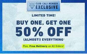 Club Cali Exclusive: Buy one get one 50% off almost everything (including a lot of items already reduced) @ Hollister