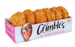 Mrs Crimbles 6 Large Coconut Macaroons, 195 g £1 (£4.49 non Prime) Delivered @ Amazon