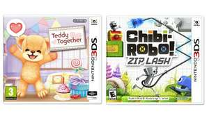 Teddy Together Nintendo 3DS Game - £1.25 / Chibi-Robo! Zip Lash Nintendo 3DS Game £1.49 - Free Click and Collect @ Argos