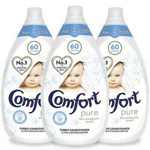 Comfort Pure Fabric Conditioner, Pack of 3, 60 Washes, 900ml £9.49 at avantgardebrands ebay