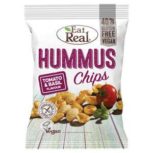 Eat Real Hummus Chips Tomato & Basil Flavour 135gr 99p @ Asda