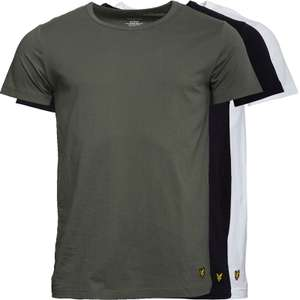 Lyle And Scott Vintage Mens Three Pack Lounge T-Shirt in White/Black/Khaki £21.99 + £4.99 delivery @ MandM Direct
