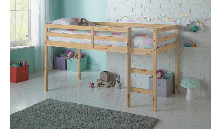 Argos Home Kaycie Mid Sleeper and Kids Mattress - Pine £133.32