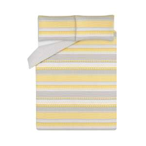 George Home Reversible Yellow & Grey Geometric Striped Duvet Set Single - £5.00 / Double - £6.00 / King - £7.00 @ Asda. ( More in the OP )