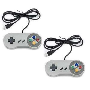 TRIXES 2 Series Pack SNES NES Controller USB - Classic Retro Gaming pads- £5.49 delivered @ Amazon / sold by Digiflex